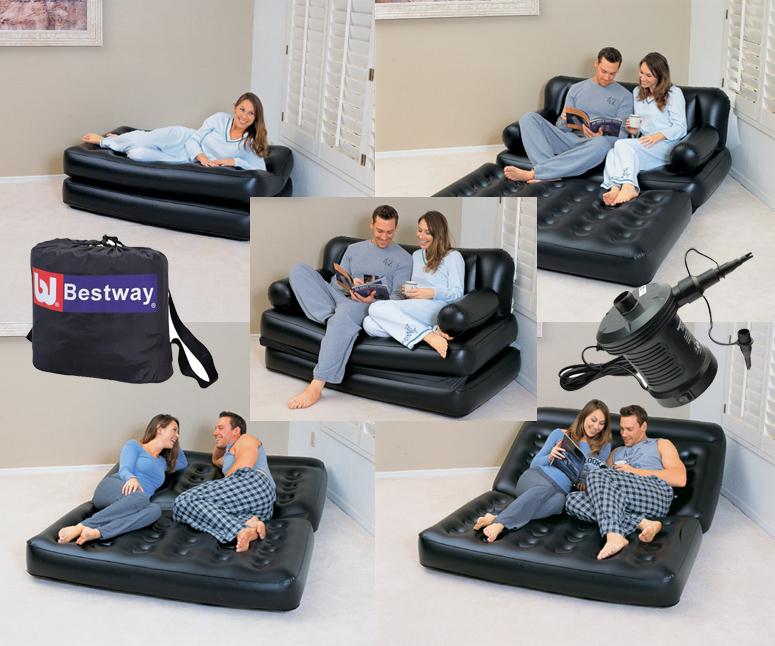 диван кровать трансформер 5 в 1 с электронасосом 220в 15219364см